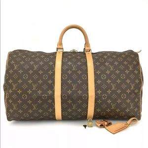 Authentic Louis Vuitton Monogram Keepal 55 Bag